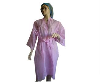 Robes longues jetables non tissées de station thermale de rose/bleu, usage jetable 50*45*65cm de station thermale